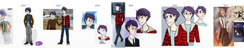 John - The Evolution by PaintSplatKat