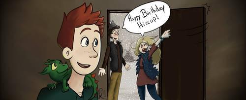 Happy Birthday Hiccup! by PaintSplatKat