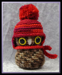 Owl in a hat by CraftedKansas