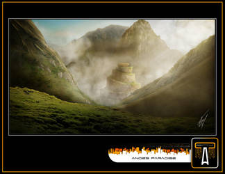 Andes Paradise Matte Painting by calva88