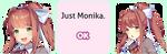 .: Just Monika - DDLC [F2U] :. by EmmazDogside
