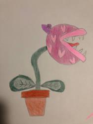 Pink Piranha Plant x3  by Magic-Polkadot-Sheep