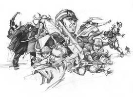 Sketch For Action Scene Worst Case Scenario by richardraaphorst