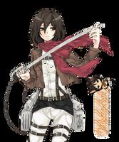 Shingeki No Kyojin Mikasa Render by mikasa-chan