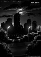 Yokohama by night by Darkdarius