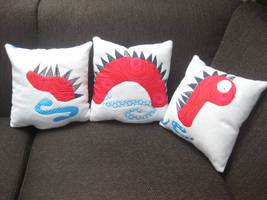Loch Ness Monster Pillow by Twinsmanns