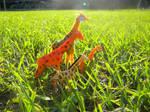 Giraffe Travels by Angelheartdream