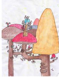 Mushroom City by Angelheartdream