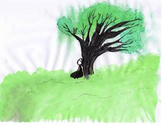 Under the tree by Angelheartdream