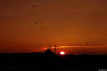 Sundown over Istanbul by proze