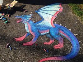 Chalk art- big blue by CrystalCircle