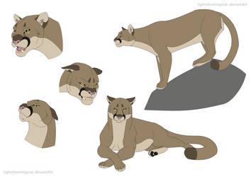 Cartoon Mountain Lion by lightshootingstar