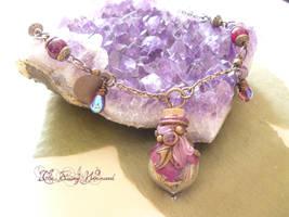 Amulet Gypsy Agate Vial by EnchantedTokenArt