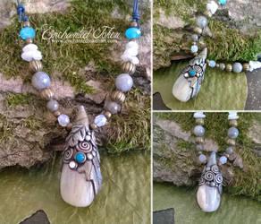 Adularia Moon Necklace by EnchantedTokenArt
