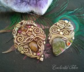 Unakite and Tiger Eye Necklace by EnchantedTokenArt