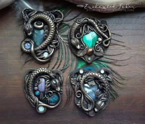 New Enchanted Dragon Pendants by EnchantedTokenArt