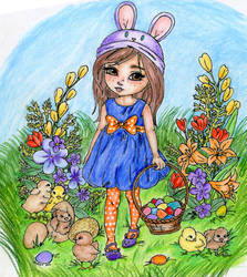 Easter Chicks Coloring Contest by ErikRoger