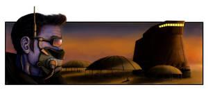 Chiss Agent on Tatooine by Threepwoody