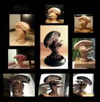 Alien sculpture by Threepwoody