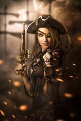 Steam pirate bride by Threepwoody