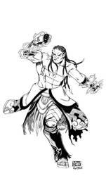 ASHURA- MONK HALF-ORC by KRETTLLI