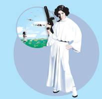 Princess Leia on Yavin by kfairbanks