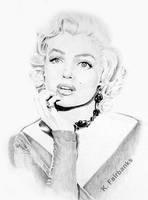 Marilyn Monroe Daydreaming by kfairbanks