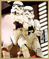 Stormtroopers on Death Star by kfairbanks