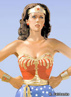 Lynda Carter as Wonder Woman by kfairbanks