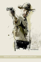 Andrew Lincoln as Rick Grimes by kfairbanks
