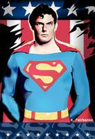 Christopher Reeve as Superman (vector drawing) by kfairbanks