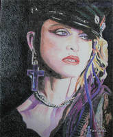 Disco Dolly (pencil drawing) by kfairbanks