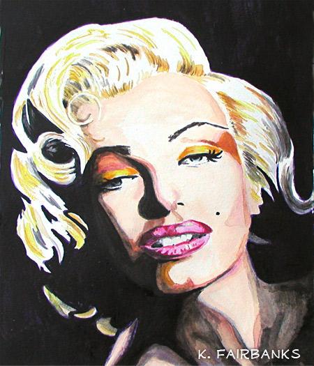 Marilyn Monroe Chiaroscuro (painting) by kfairbanks