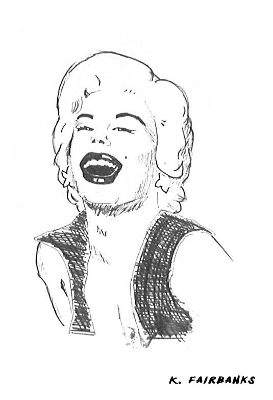 Marilyn Monroe Sketch (pen and ink) by kfairbanks