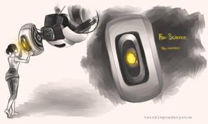Some Robot GLaDOS by TwinklePowderySnow