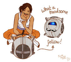 Fun with Wheatley by TwinklePowderySnow