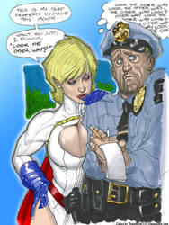 Power Girl, Cop by Adam Hughes by powerbook125