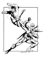Karate Kid vs. Connor Hawke by DerecDonovan