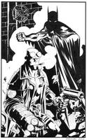Batman Hellboy- Black and White by DerecDonovan
