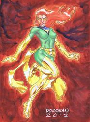 Phoenix Watercolor by DerecDonovan