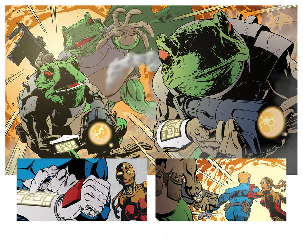 Time Toads Double Page by DerecDonovan