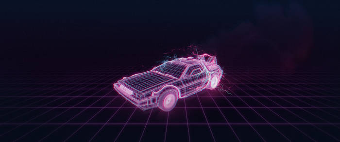 Neon Delorean by StArL0rd84