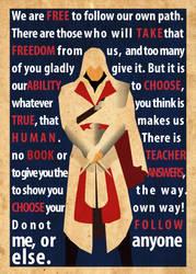 Ezio's Speech Poster by Procastinating