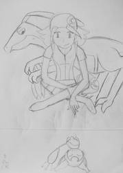 Mystery Dungeon sketch. by XX-moo-XX