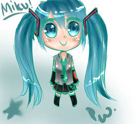 Miku Hatsune Chibi by PrinceWakaranai