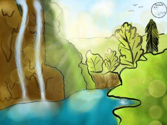 Sunrise Pond by Chickenleg9999
