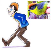 Tropical Bird Guy by captainsponge