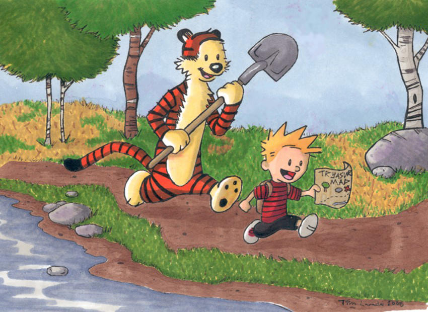 Calvin and Hobbes by captainsponge