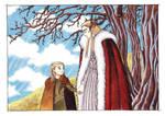 Thranduil and little Legolas by Teodora85