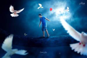 Red Balloon Fantasy by hasshasib001